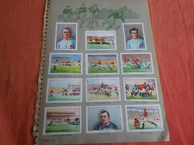 13 Images Rugby Chocolat Nestle 1937 / Stickers Rugby