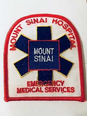Mt Sinai Hospital Emergency Medical Services Ambulance State of NY EMS Patch