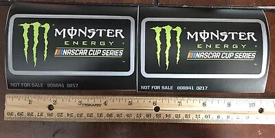 Monster/  Nascar Stickers (lot Of 2)