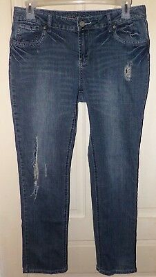 CATO Premium Women's Size 14P Petite Jeans Denim Destroyed - Ripped - Distressed