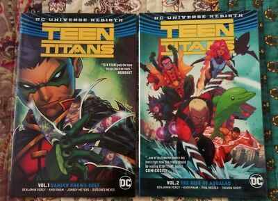 DC REBIRTH - Teen Titans Volume 1 and Volume 2 trade paperbacks