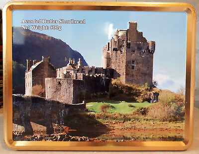Biscuit Tin Advertising Butter Shortbread Scottish Castle Scotland Empty 2014