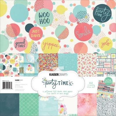 KAISERCRAFT Party Time Paper Pack with Bonus Sticker Sheet ~ Birthday