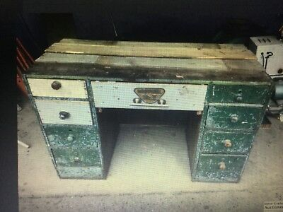 Vintage Original Industrial Factory Desk