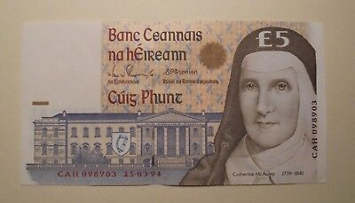 Rare 1994 Ireland 5 Pound Note Cheap At This Price