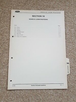 Genuine Ford Fiesta,Escort,Granada,Transit Audio Loom Routing File Section -10