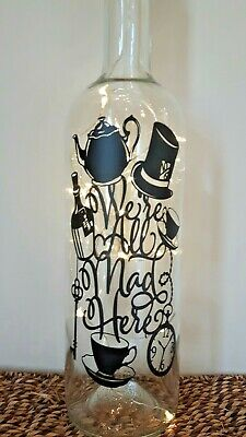 Light Up Bottle Alice In Wonderland Were All Mad Here Disney Gift Box Christmas