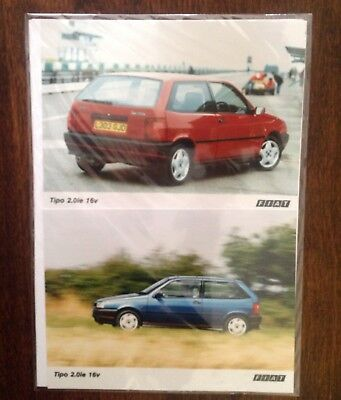 Fiat Tipo 2.0ie 16v 1993 Press Kit News Release Two Photos and Statement