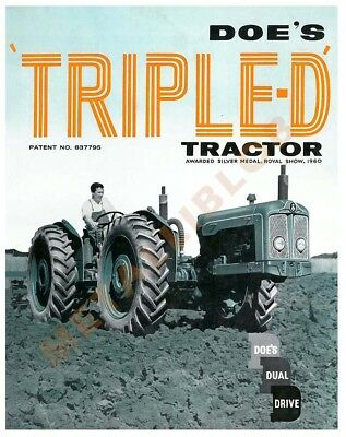 Doe's Triple D based on Fordson Major tractor  - Poster A3