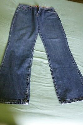 M&S Button fly straight leg blue jeans size 18