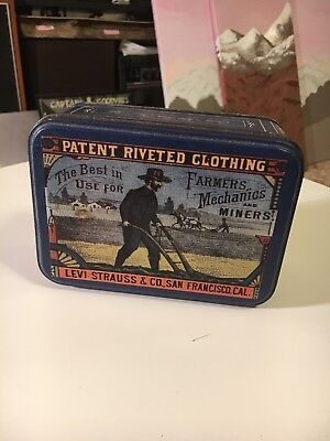 Levi Strauss Levi's Jeans Collectable Tin Dice Vintage