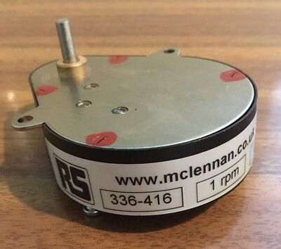 Mclennan Servo Gearbox 250:1 Ovoid 1 Rpm, Rs Branded, New Boxed