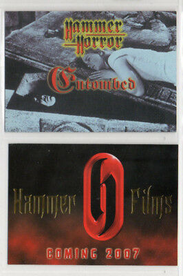 Hammer Horror - Entombed - Films - Lot of 2 Different Promo Cards