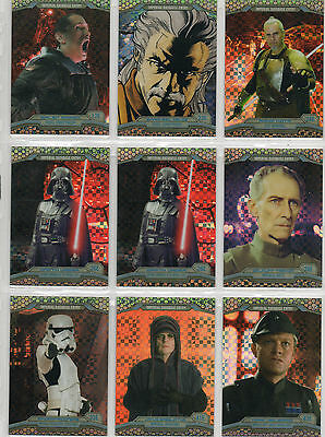 Star Wars Chrome Perspectives - Lot of 18 X-Fractor Parallel Cards NM Topps 2014