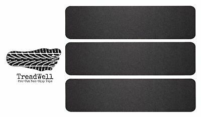 Treadwell High Traction Adhesive Non Slip Stair Treads. Pre-Cut Safety Tape/T...