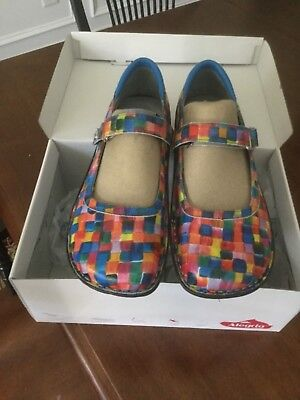 Alegria Sz 39 Belle Bel-569 Mary Jane Shoes Multi-Color New In Box