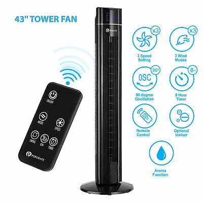 PureMate PM 850 Oscillating 43-inch Tower Fan with Aroma Function and Remote