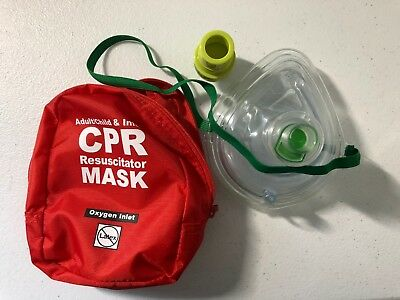 CPR mask in soft case + Glove (Adult, child, and separate mask for infants)