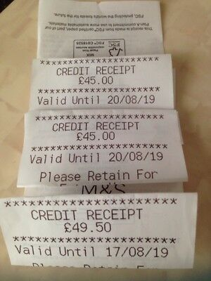 Marks And Spencer's M & S Gift Voucher In Store Vouchers Credit Note