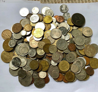 Job Lot Of Foreign Coins  1.2Kg Weight All Proceeds To Charity