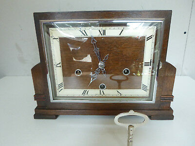 Smiths Enfield Art Deco Westminster Chime Mantel Clock