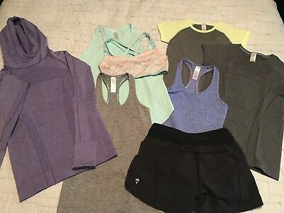 Girls Ivivva by Lululemon Size 10 Lot of tanks, short sleeve, hoodie, shorts