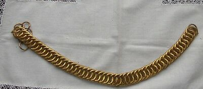 19 th  century military  gold tone pith  helmet chin strap