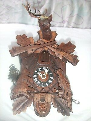 Vintage Black Forest Hubert Herr Cuckoo Clock Spares or Repair