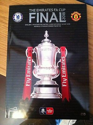 The Emirates FA Cup Final 2018 - Chelsea v Manchester United - Programme - NEW
