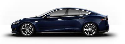 2015 Tesla Model S  Tesla Model S AWD 70D Deep Blue Metallic