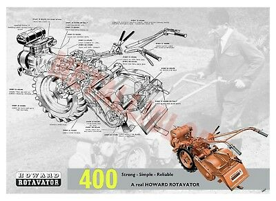 Howard 400 Rotavator - Poster -  (A3)