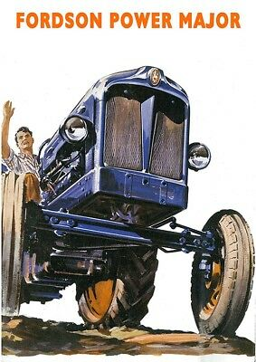 Fordson Power Major Tractor - Poster (A3) - (NEW PRICE)