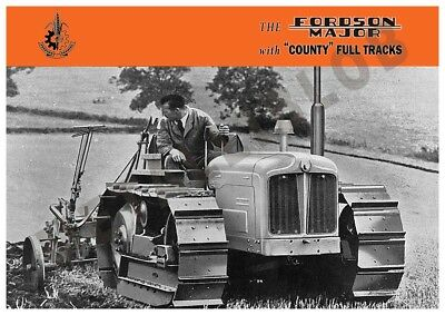 Fordson Major Tractor Full Tracks - Poster