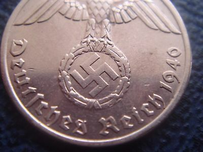 Rare WWII Antique Germany 1937 - 1940 3rd Reich SS Nazi Eagle 1 pfenning Coin
