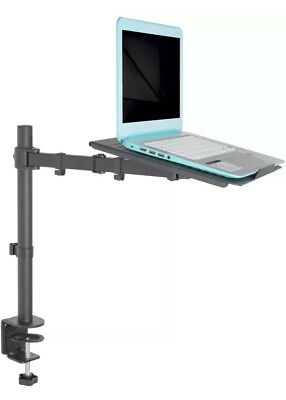 VIVO Single Laptop Notebook Desk Mount / Stand Fully Adjustable Extension Clamp