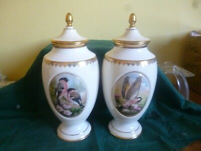 Beautiful Pair Signed Royal Grafton Limited Edition Lidded Urns.with Certificate