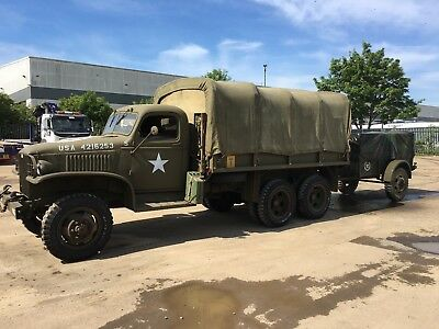 GMC 353 radio communications truck 1942 and 2x trailers