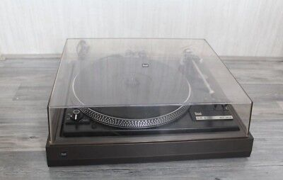 Beautiful Dual 505-2 belt drive turntable with an Ortofon cartridge and needle.