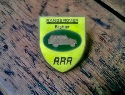 Land Rover Range Rover Rgister Owners Classic Car Grille Badge LSE P38 Suffix A