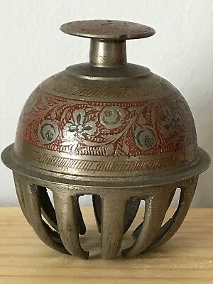 AntiqueVintage Original Chinese / Tibet Tibetan Hand Chime Bell Elephant Claw