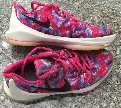 1034fd8cea33 NIKE KEVIN DURANT KD 8 AUNT PEARL FLORAL ~ Girls Youth Shoe Sz 5.5Y ...