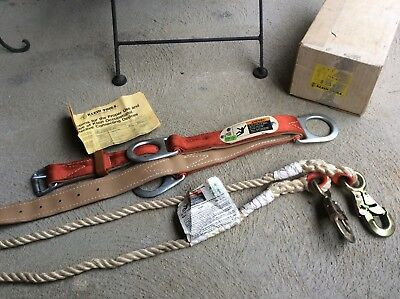 Klein Tools Lineman Climbing Safety Belt Tool Rope New In Box