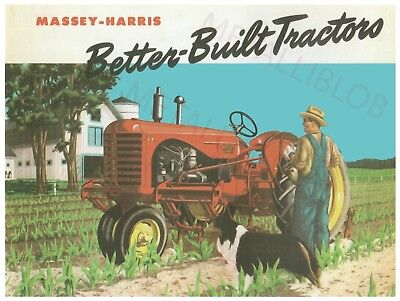 Massey Harris Better Built Tractors - Poster (A3)