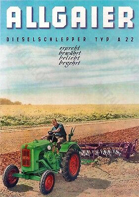 ALLGAIER Type A22 Tractor Advertising - Poster (A3)