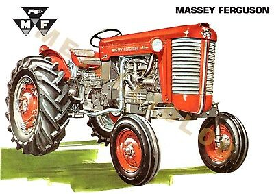 Massey Ferguson 85 Tractor - Poster (A3) -  REDUCED