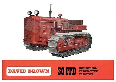 David Brown 30 ITD Track-Type Tractor - Poster (A3)
