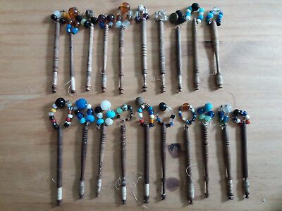 Preowned - Vintage (Possibly Antique) 20 x Lacemaking Bobbins With Sparkles -