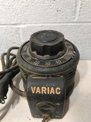 Vtg Electronics General Radio Co VARIAC Transformer Type V5 5 Amp 115 Volt AC ++