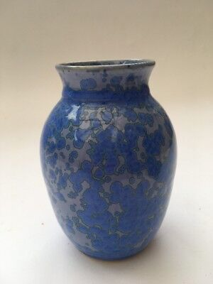 Blue Vase with Crystalline Glaze