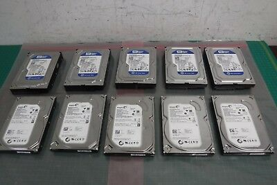 "Lot of 10 Assort 250GB 3.5"" SATA Hard Drive HDD Western Digital Seagate 7200RPM"